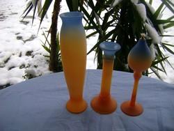 Német AMBIENTE glas 3 részes new art stílusú készlet, kézzel fújt