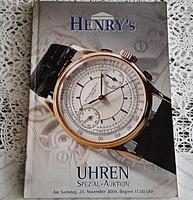 HENRY's AUKCIÓSHÁZ ÁRVERÉSI  - ÓRA  KATALÓGUS  2004