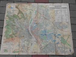 Budapest térképe 1931-ből.Ritka gyűjtői darab.