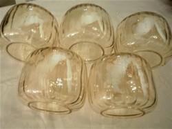 5 db gyönyörű vastag üveg lámpa búra az 50-es évekből retro lámpabúra