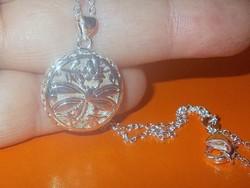 Amulett Szitakötő 925 ezüst - fehérarany Nyaklánc