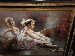 Olaj vászon festmény blondel keret