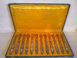 12 db-os ezüst villa készlet dobozban