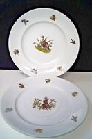 Herendi 2 db vadászos tányér, lapos és mély
