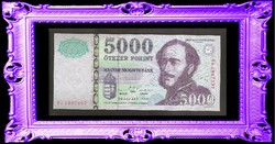 "5000 Forint 1999 "" BJ ""  UNC"