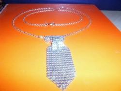 Philip Russel márkás Nyakkendő Ezüst Nyaklánc