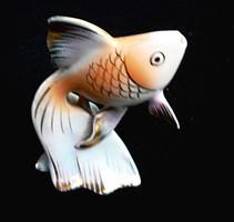 Retró Hollóházi szerencsehozó fátyolhal