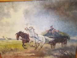 Kolozsváry Endre lovas olajfestménye