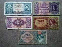 5 db pengő bankjegy