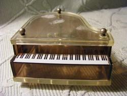 Retro plexi zongora zenélő szerkezettel