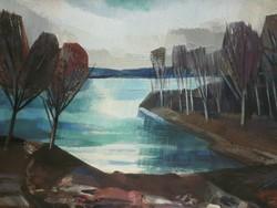 Berta Sándor (1929-) : Balatonpart
