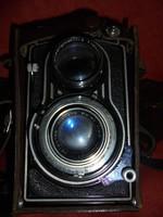 Kitünő állapotú Flexaret Meopta fényképezőgép + lencsékkel