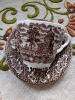 Reneszánsz kastély hattyúkkal angol porcelán-csésze alátéttel (4)