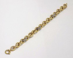 Köves arany karkötő (ZAL-Au77944)