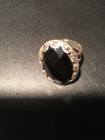 Izraeli ezüst gyűrű onixxal