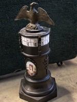 Különleges váza óra bronzból/ kandalló óra