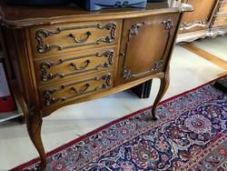 Chippendél barok gyönyörű komod 75x67x40cm