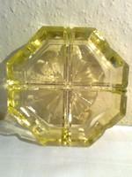 Sárga Ajka kristály hamutál