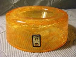Karcagi sárga fátyolüveg hamutál hamutartó