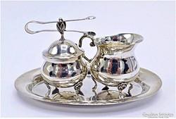 Albert Bodemer ezüst szett:kávés készlet