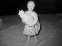 Herendi fehér  , kislány kakassal , hibátlan ,190mm