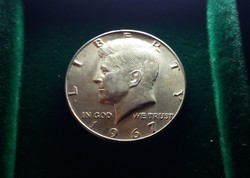 USA, ezüst 1/2 dollár 1967, 11,5 g.