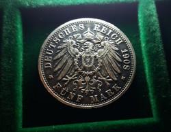 Németország 5 márka 1908, 30,5 gramm. Másolat!