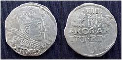 III. Zsigmond lengyel király ezüst 3 garas 1598 /id568/