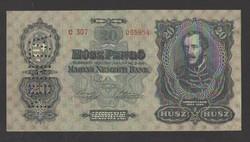 """20 pengő 1930. """"KÖTELES"""" MINTA példány!! UNC!! NAGYON RITKA!!"""