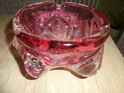 Nagy méretű Bohemia üveg hamutál