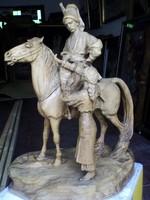 Ritka nagy méretű faragott kozák katona !!!