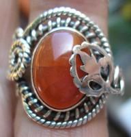 925 ezüst gyűrű, 16,3/51,2 mm, karneollal