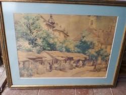 Eladó egy szép kidolgozású akvarell festmény !!!!
