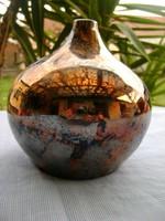 Eozin stúdió art  váza Zsolnay? jelegű gyönyörű  színekben pompázik  kisérleti eozinmázzal