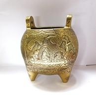 Csodaszép, aranyozott bronz kínai dísz kaspó.