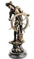 Hajóskapitány bronz szobor