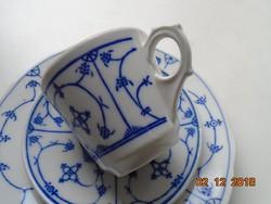 Meisseni IMMORTELLE mintás német reggeliző készlet-ORIGINAL SAKS BLUE-Jager Eiseberg GDR