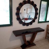 Art-deco konzol asztal tükörrel