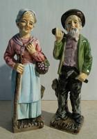 Német porcelán nagymama és nagypapa