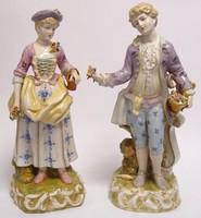 Szerelmes páros - porcelán figura