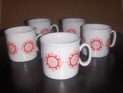 Zsolnay porcelán bögre készlet 5 db (23/d)