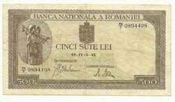 500 lei 1941 Románia I.