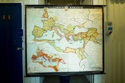 Földrajzi térkép falitérkép iskolai szemléltető Római Birodalom térkép poszter retró dekoráció
