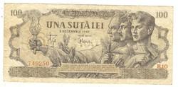 100 lei 1947 december III. kiadás Románia