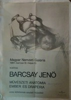 500 példányos plakát egyike Barcsay Jenő aláírásával!