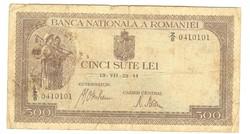 500 lei 1941 Románia III.
