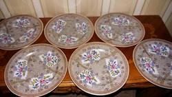 Herendi antik 6 db Cubash süteményes tányér 1910