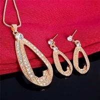 Gold Filled fülbevaló-nyaklánc szett GFSZ84
