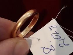 Arany karikagyűrű női 1950 es évek   14 karátos 2,02 g.