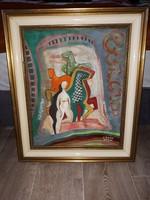 Kádár Béla jelzesü olaj vászon festmény eladó